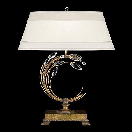 Fine Art Lamps Crystal Table Lamp (Fine Art Lamps 773210, Crystal Laurel Tall 3 Way Crystal Table Lamp, 1 Light, 150 Total Watts, Gold)