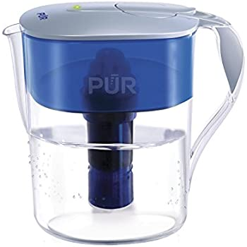 PUR Classic Water Filtration System 11-Cup Pitcher with Filter Change LED Indicator Light