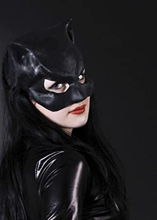Ladies Black Catwoman Mask