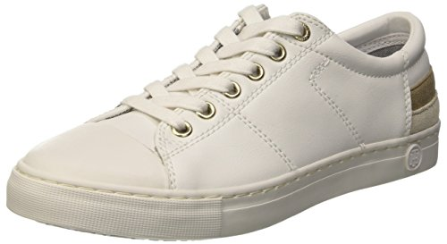 White Hilfiger 1a 100 white top J1285eanne Bianco 100 Women's Low Tommy Sneakers Bwqf8dB