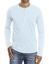 Men's Classic Comfort Soft Regular Fit Long Sleeve Henley T-Shirt Tee
