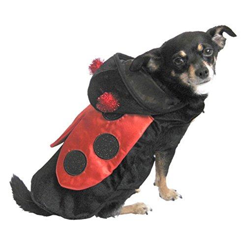 Ladybug Dog Costume Red & Black Lady Bug Pet Outfit S