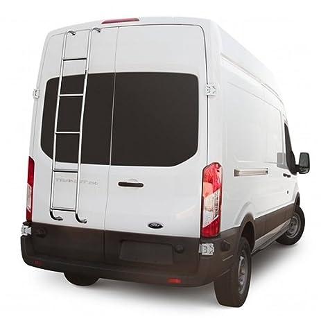 Stainless Steel Rear Door Van Ladder 2015 2017 Ford Transit Van High Roof