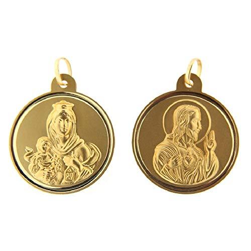 Amalia 18K Yellow Gold 30mm Scapular Medal Pendant ()