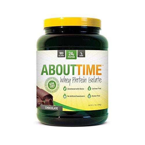 Nutrición de la COSUDE sobre tiempo de proteína de suero aislar en polvo, Chocolate, 2 libras