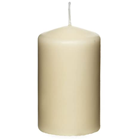 Wedding candle Ivory Candle,125 Hour Burn Time Large Pillar Candle