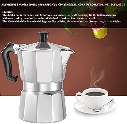 Cafetera de Aluminio de 8 ángulos, para café expreso, Moka, Taza ...