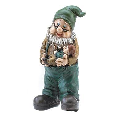 Gifts & Decor Garden Grandpa Yard Gnome Outdoor Statue 10.6