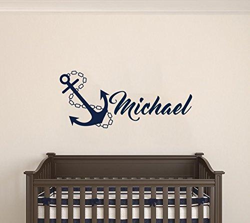 Cheap  Custom Name Anchor Nautical Series - Baby Boy/Girl Wall Decal Nursery For..