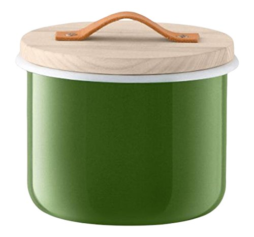 LSA International Utility Container & Ash Lid Sage, 7'', Green by LSA International