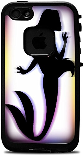 The Little Mermaid Silhouette Motion Art With Pink Heart Design Print Image Lifeproof Fre iPhone 4 Vinyl Decal Sticker Skin
