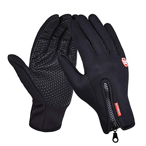 (DREAMY Winter Touch Screen Windproof Coldproof Thermal Leisure Camping Thermal Gloves(black,Medium))
