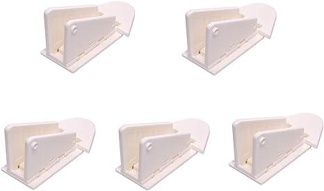 Fliyeong 3 M Adhesivo Puerta corredera Lock para Patio, clóset, ventana, RV, a prueba de bebé Niño Seguridad Latch, 5 Pack: Amazon.es: Bebé