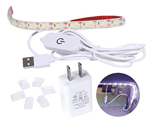 Best Deals! HengBo Sewing Machine Light, LED Strip Lighting Kit with 6.6ft Cord Touch Dimmer USB Pow...