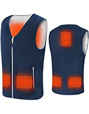 Anoopsyche Heated Vest, Gilet Chauffant, 3 Levels Temperature, 5 Heating Pads