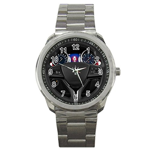 Mens 2014 Maserati Ghibli S Q4 Sport Metal Watch