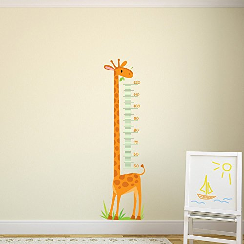 Giraffe Height Chart kids Cartoon color Wall Stickers Bedroom Art Decals available in 8 Sizes Gigantic Digital by IconWallStickers
