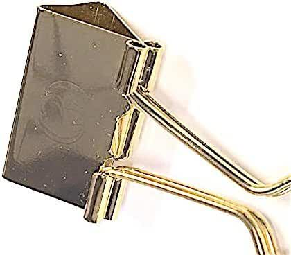 24kt Gold Plated Binder Money Clip