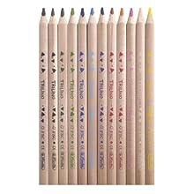 Herlitz 10412062 Multi 12pieza(s) laápiz de color - Lápiz de color (12 pieza(s), Multi, Madera, Triangular)