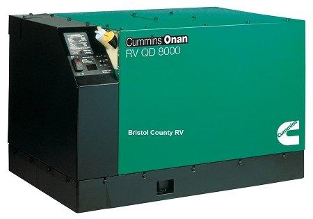 (Cummins Onan 8KW 67A Diesel RV QD 8000 Generator 8.0HDKAK-1046)