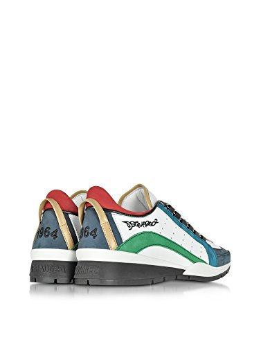 DSQUARED2 HOMME W16SN404578M630 MULTICOLORE CUIR BASKETS