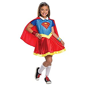 - 41CuJhpRE8L - Onceuponasale Girls LARGE12-14 DC Comics Superhero Supergirl Costume Super Girl Hero Halloween
