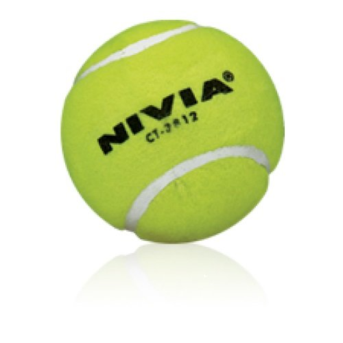 Nivia Yellow Heavy Tennis Ball (Pack of 6)