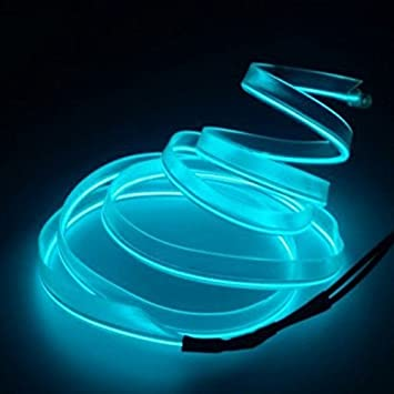 3 Metri Dastrues con Presa accendisigari da 12 V Ice Blue Filo di serraggio Flessibile al Neon per Decorazione Auto