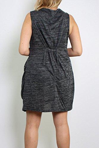Miss Noir Taille 52 Noir Jusq'à Fantaisie Rouge Grande Manche Taille Sans Robe Tunique Beige rqraCWwU