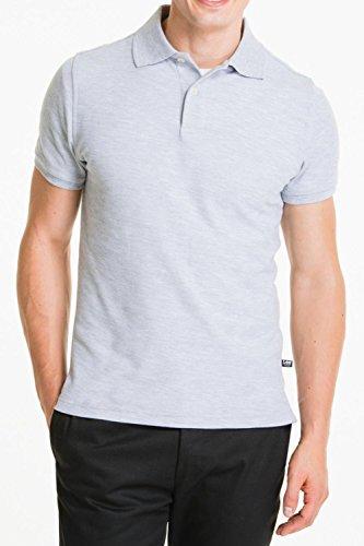 Lee Uniforms Men's Short Sleve Uniforms Polo, Heather Grey, X-Large