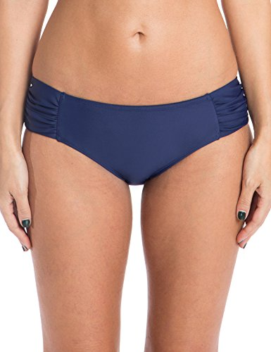 Ocean Blues Women's Swim Standard Ruched Bikini Bottom