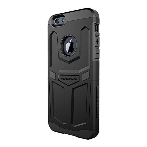Nillkin Defender Case Cover conque Rückdeckel Schutzhülle + Displayschutzfolie für Apple iPhone 6Plus 5.5, Schwarz