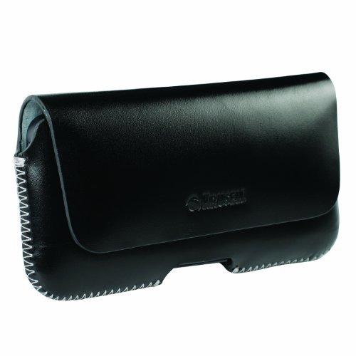 Krusell Leder Gürteltasche Hülle für Apple iPhone 5s / iPhone 5 / Huawei Ascend Y330 / S4 mini etc. Hülle / Tasche Hector Quertasche in schwarz