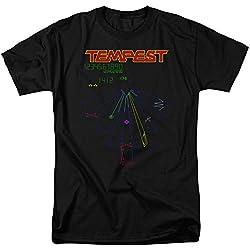 Atari Tempest Screen Mens Short Sleeve Shirt BLACK LG