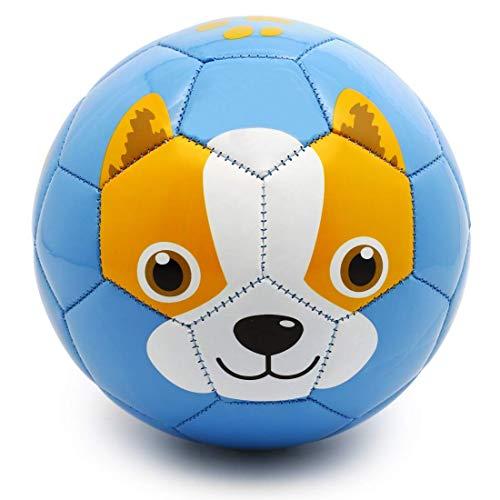 PP PICADOR Toddler Soft Soccer Ball Cute Cartoon Kids Ball Toy Gift with Pump (Blue Dog, Size 3) (Ball Cartoon Animal)