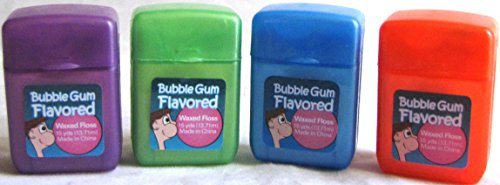 Plak Smacker Bubble Gum Flavored Floss, 15 yds - 4 pack