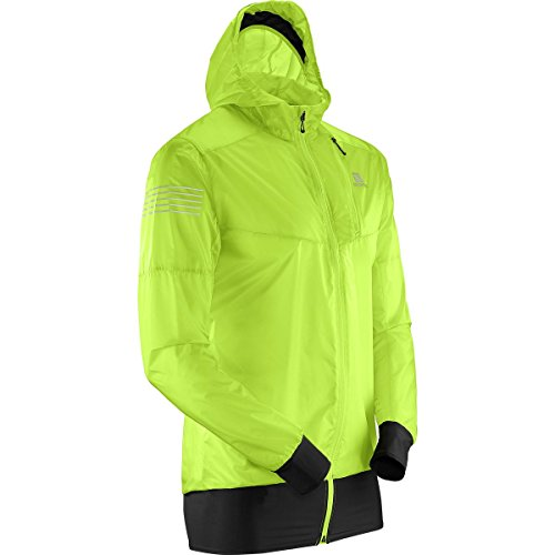 Salomon Men's Fast Wing Hybrid Jacket, Acid Lime, Medium (Fast Salomon Wing)