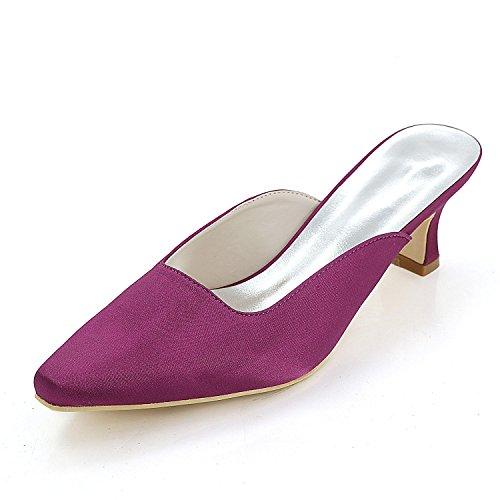 Le Confortables Coutume DéContracté purple Commande De Fait Place Taille L Grande Pantoufles YC Pointu Mariage De Sur Femmes avec O0qWRw4pW