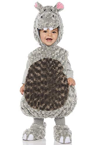 Underwraps Kid's Toddler's Plush Hippo Belly Babies Costume Childrens Costume, Gray, Medium -