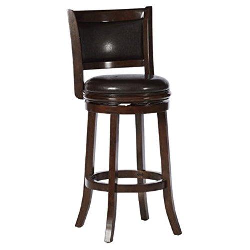 Boraam 46829 Augusta Bar Height Swivel Stool, 29-Inch, Cappuccino with Dark Brown PU -