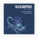 Scorpio Zodiac Sign Gifts | 7x7 Tile Artwork for Scorpio Sign Men or Women | Ideal Gift for Astrology Lovers | Zodiac Related Present | Perfect Horoscope Themed Decorations