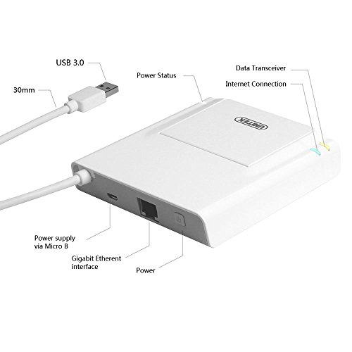 Unitek USB 3.0 3 Port Hub + Docking Station + OTG Adapter + RJ45 10/100/1000 Gigabit Ethernet Adapter for Windows Android Tablet, Smartphone Ultrabook by Unitek (Image #1)