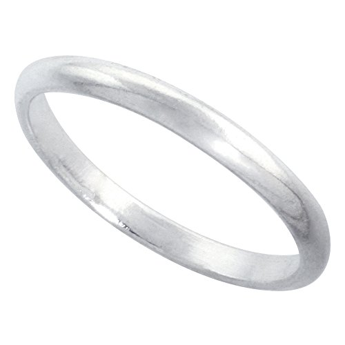 Sterling Silver Thin Wedding Thumb