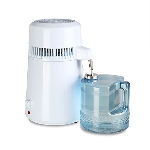 CNCShop Water Distiller Water Distillation Purifier All Stainless Steel Internal 4L Purifier Filter Effective Internal Water