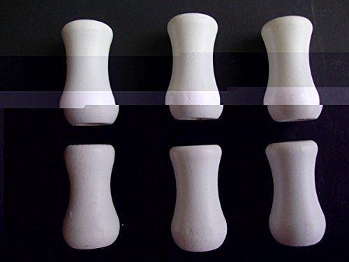 Window Blind Wood Knobs White