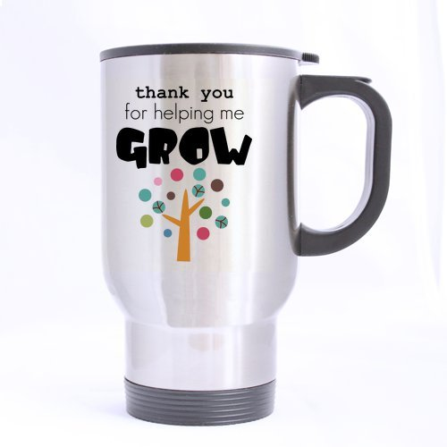Thanks For Helping Me Grow Quotes: SCSF 14 Ounce Stainless Steel Funny Travel Tea Cup With
