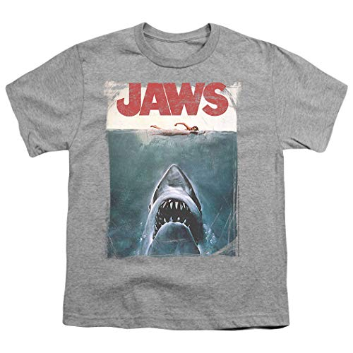 - Jaws Shark Original Movie Poster Youth T Shirt & Stickers (Large)