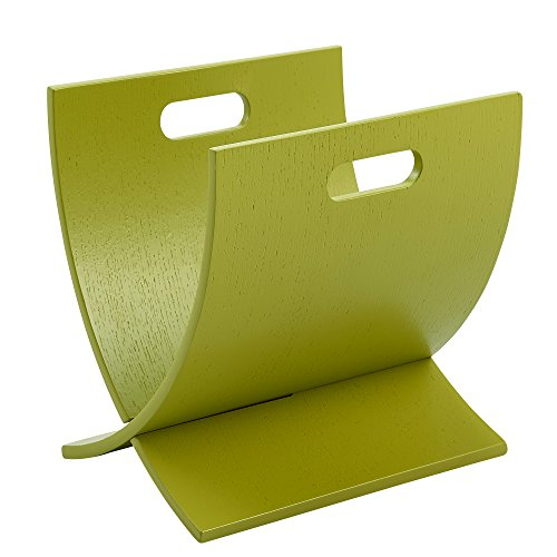 Teamson Cabinet (Versanora VNF-00021G Lettore Wooden Minimalist Modern and Stylish Magazine Rack-Lime Green)