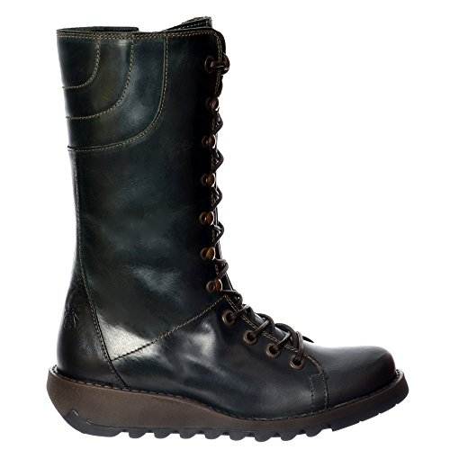 Ster768Fly Leather Womens london Petrol Mid Fly Calf Boots 41 WCx1zw