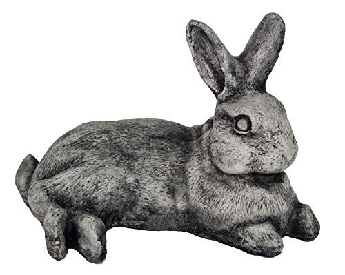 Laying Rabbit Garden Statues Garden Outdoor Yard Cement Bunny Stone Statues Art
